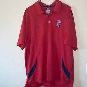 Men's Boston Red Sox Nike Red Polo